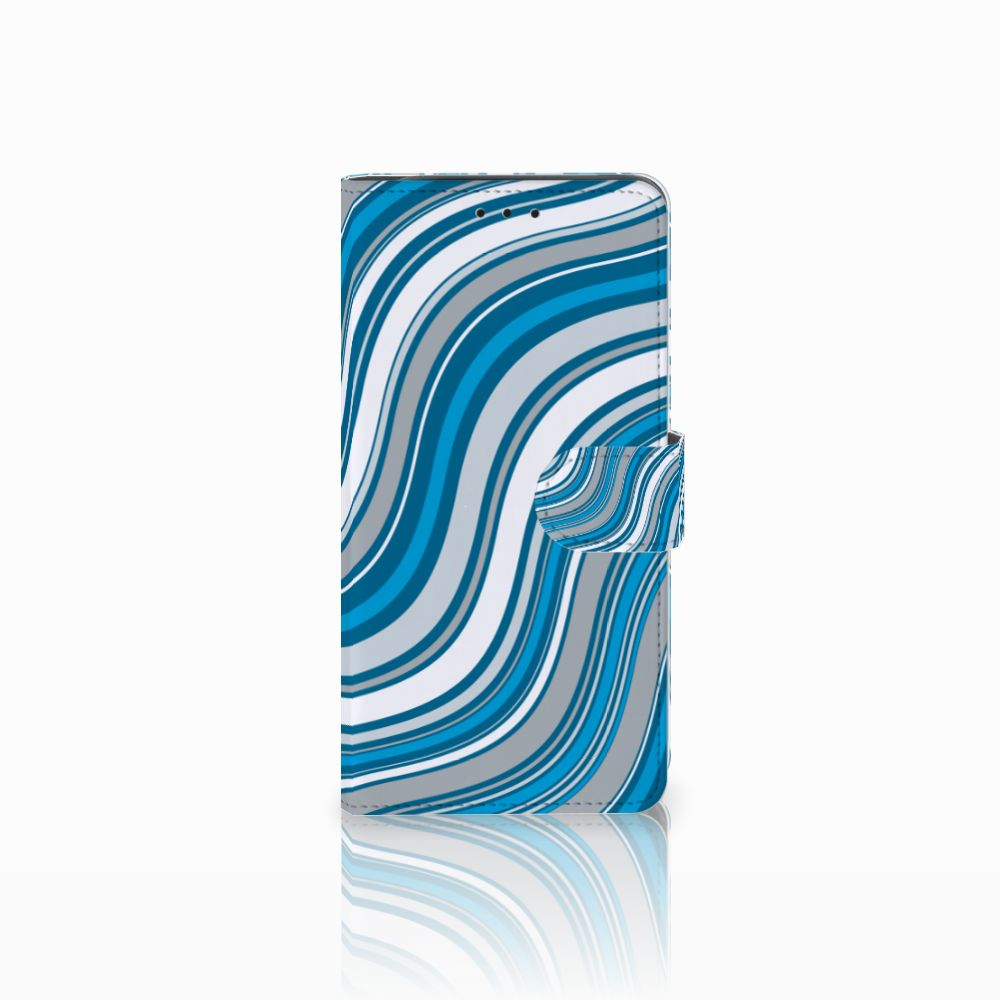 Samsung Galaxy J6 Plus (2018) Telefoon Hoesje Waves Blue