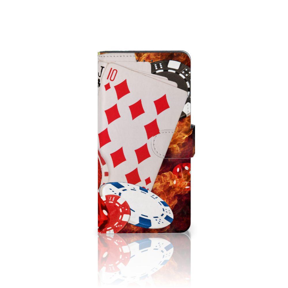 Motorola Moto Z Play Uniek Boekhoesje Casino