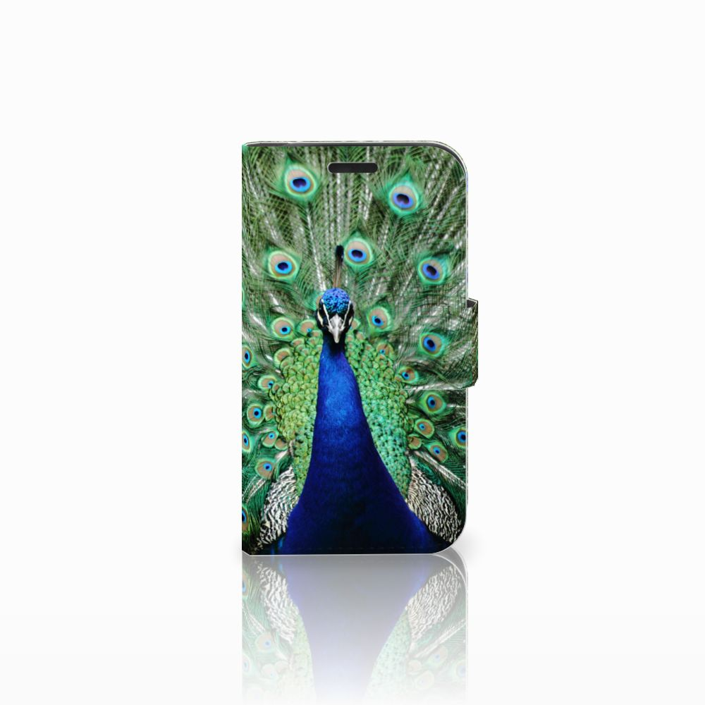 LG K4 Telefoonhoesje met Pasjes Pauw