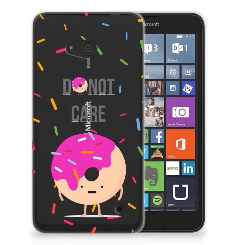 Microsoft Lumia 640 Siliconen Case Donut Roze