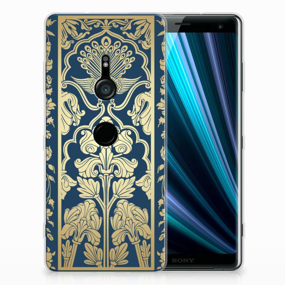 Sony Xperia XZ3 TPU Case Golden Flowers