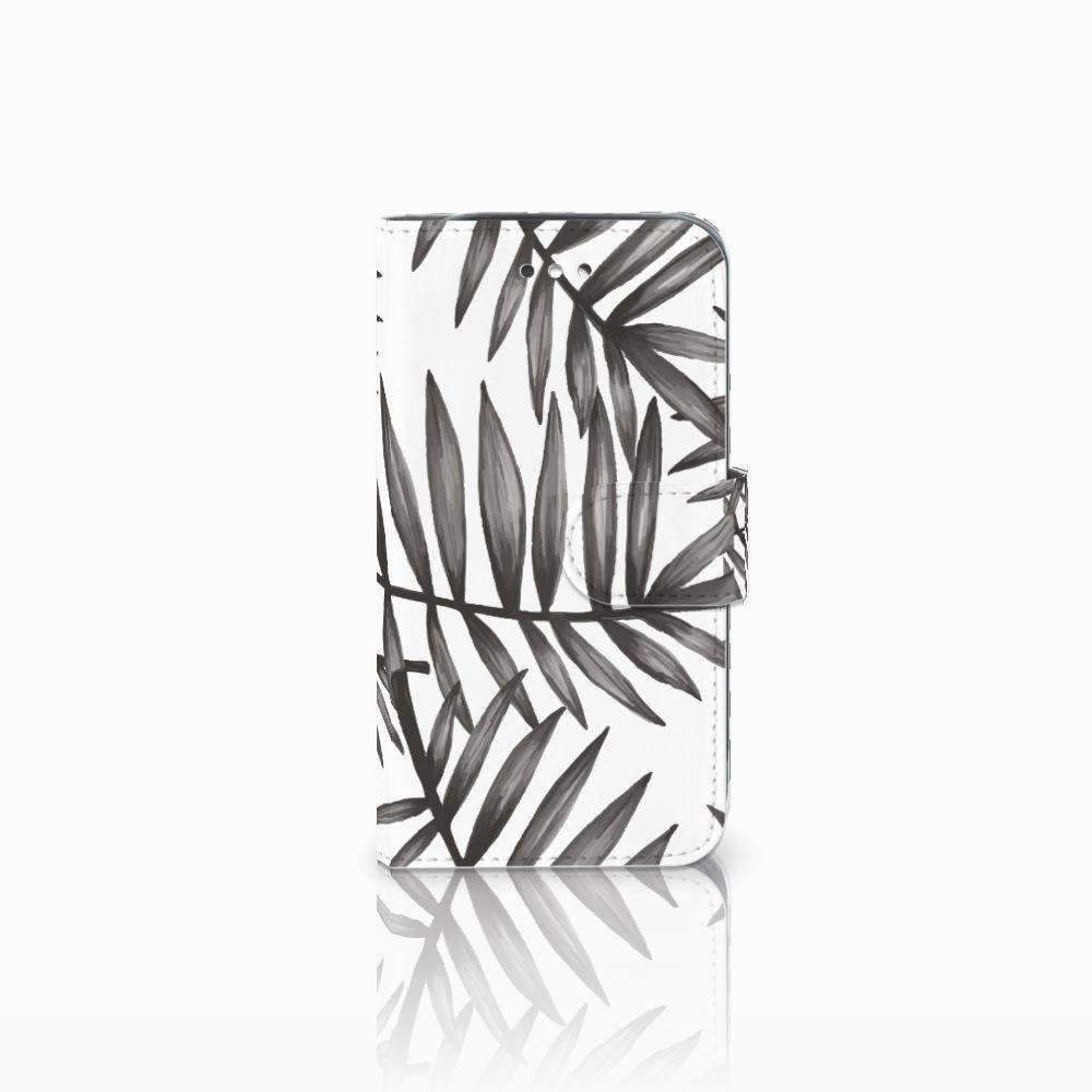 Samsung Galaxy S4 Uniek Boekhoesje Leaves Grey