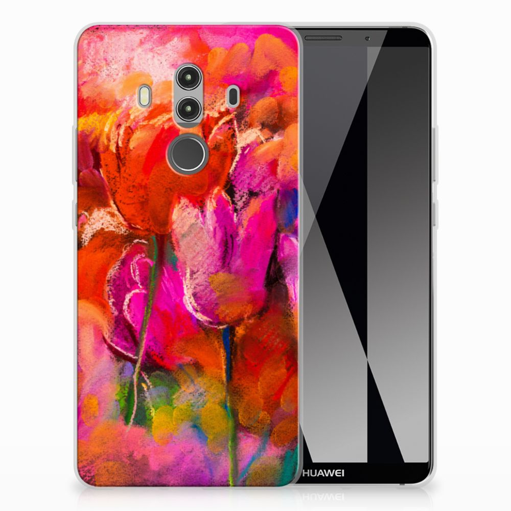 Huawei Mate 10 Pro TPU Hoesje Design Tulips