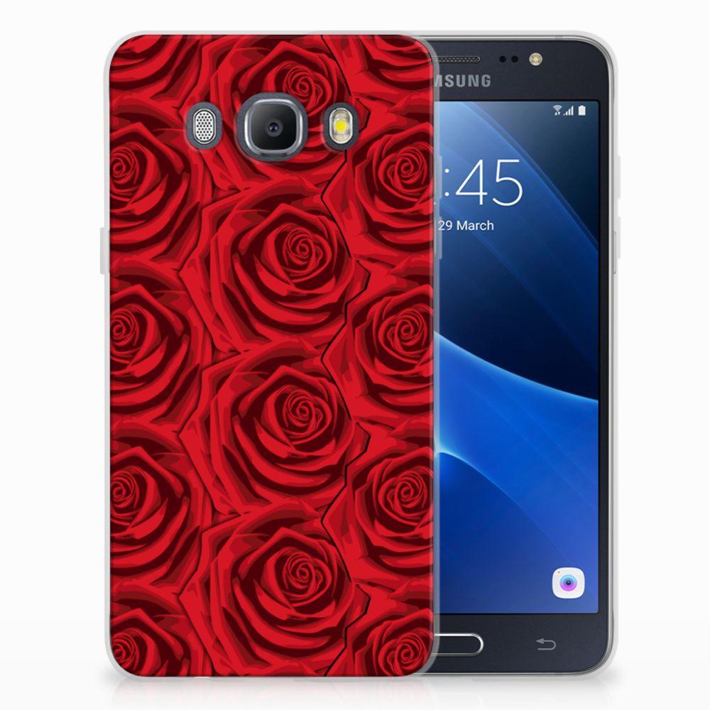 Samsung Galaxy J5 2016 Uniek TPU Hoesje Red Roses