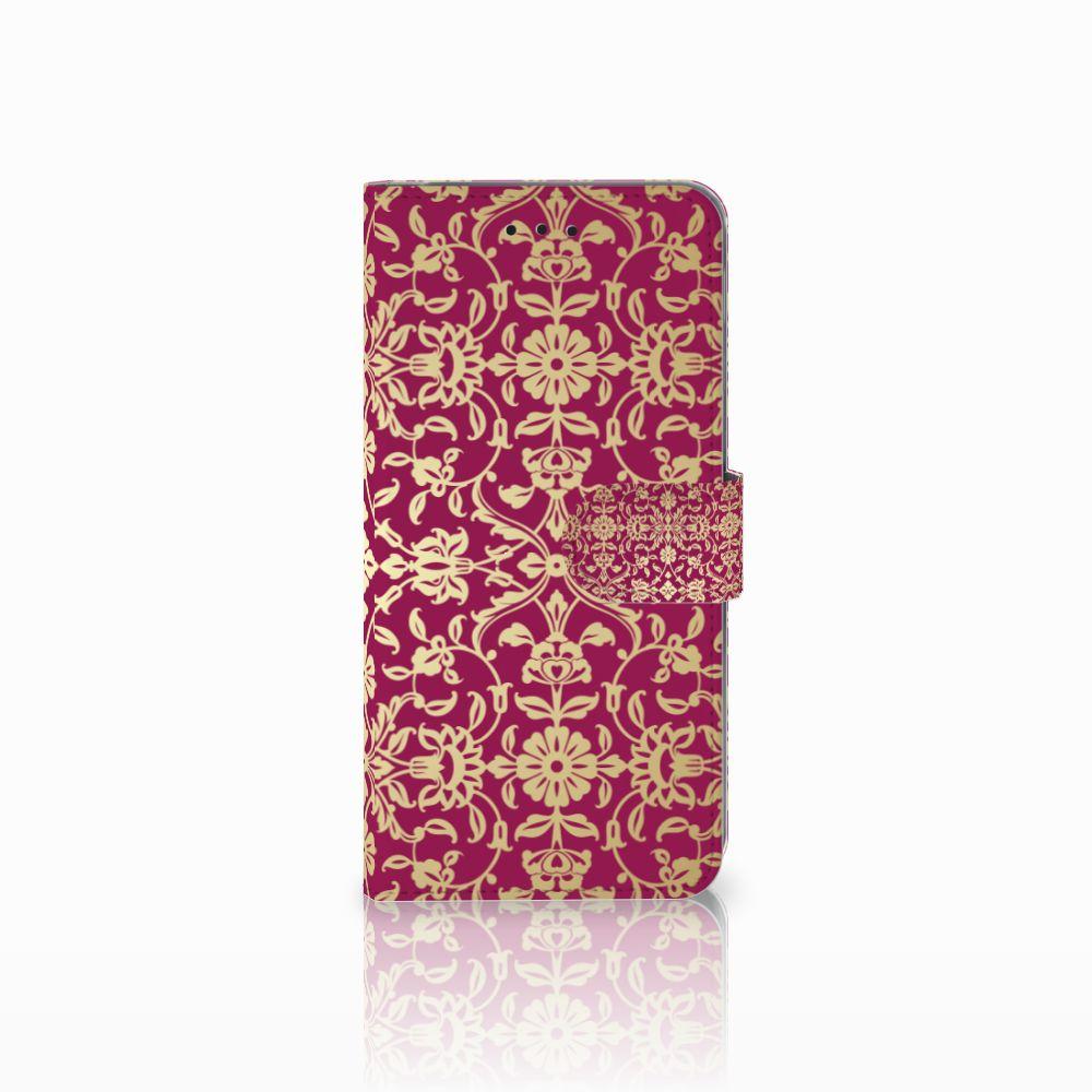 Samsung Galaxy A6 Plus 2018 Boekhoesje Design Barok Pink