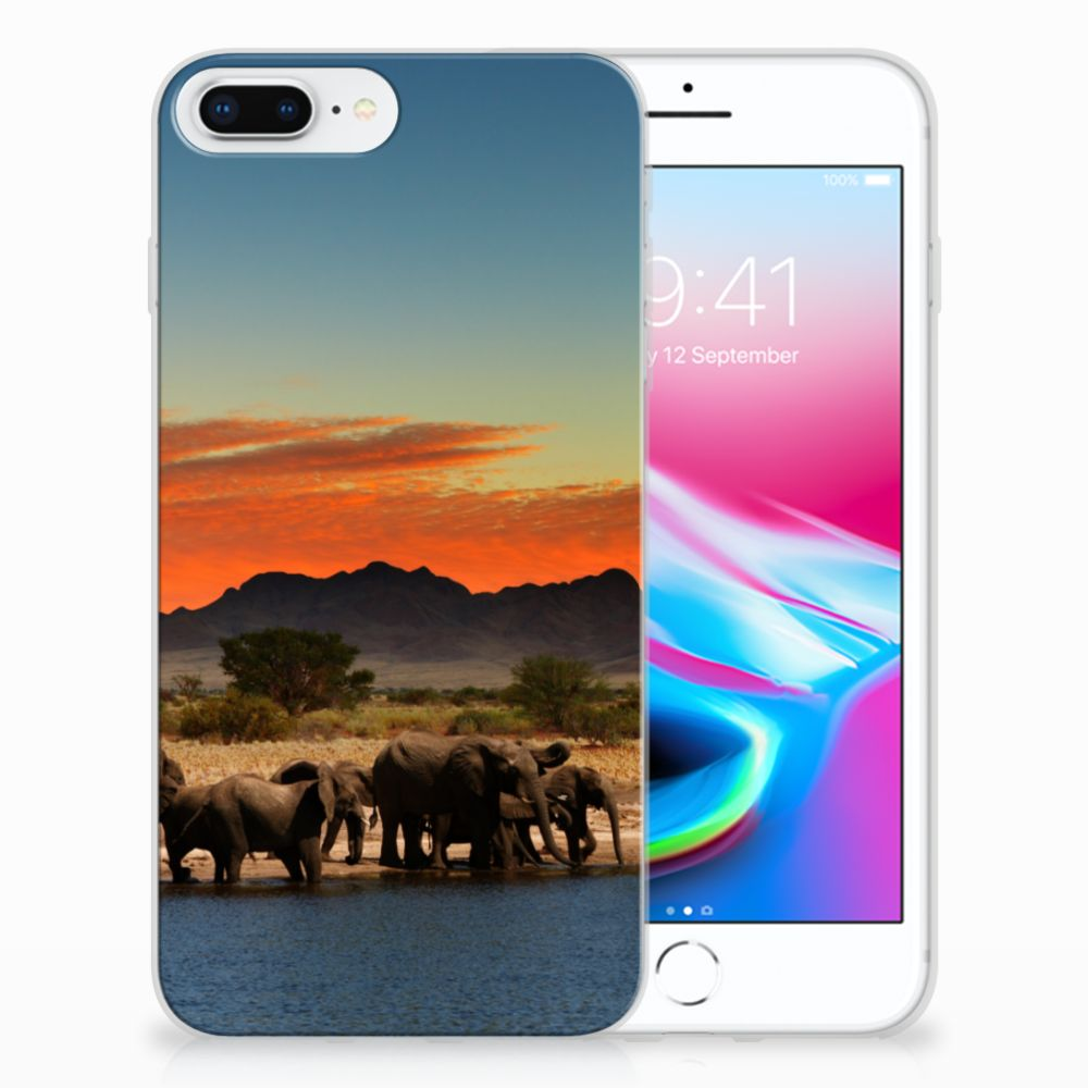 Apple iPhone 7 Plus | 8 Plus TPU Hoesje Design Olifanten