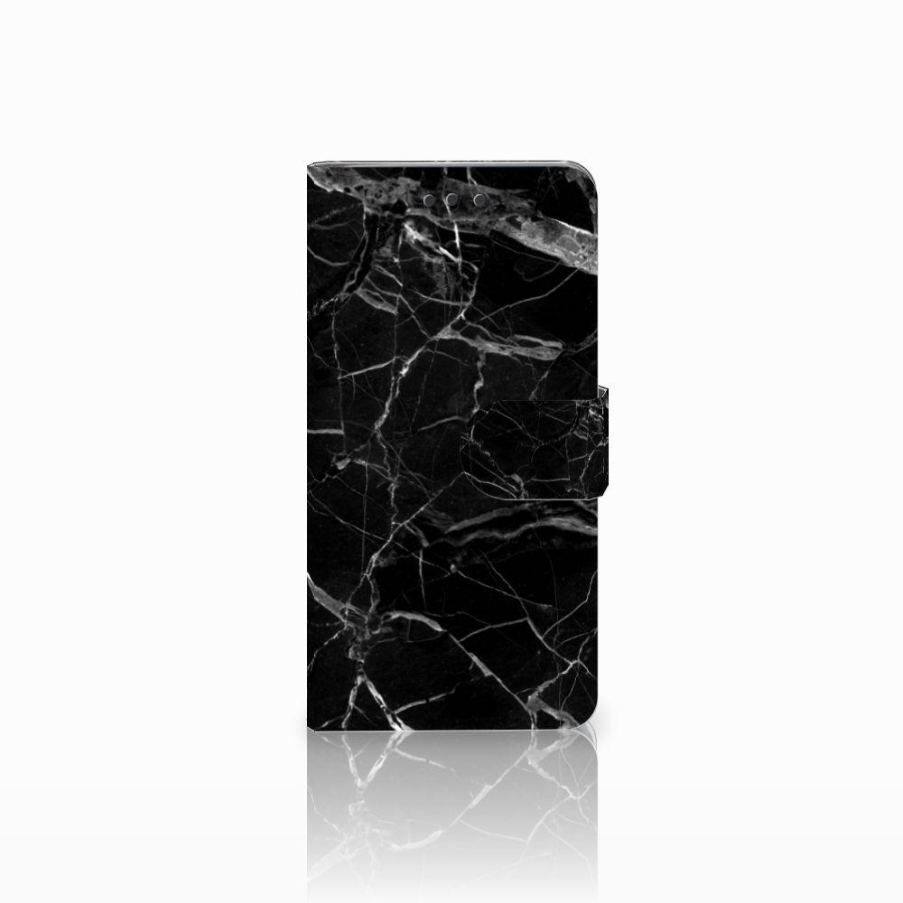 HTC U Play Uniek Boekhoesje Marmer Zwart