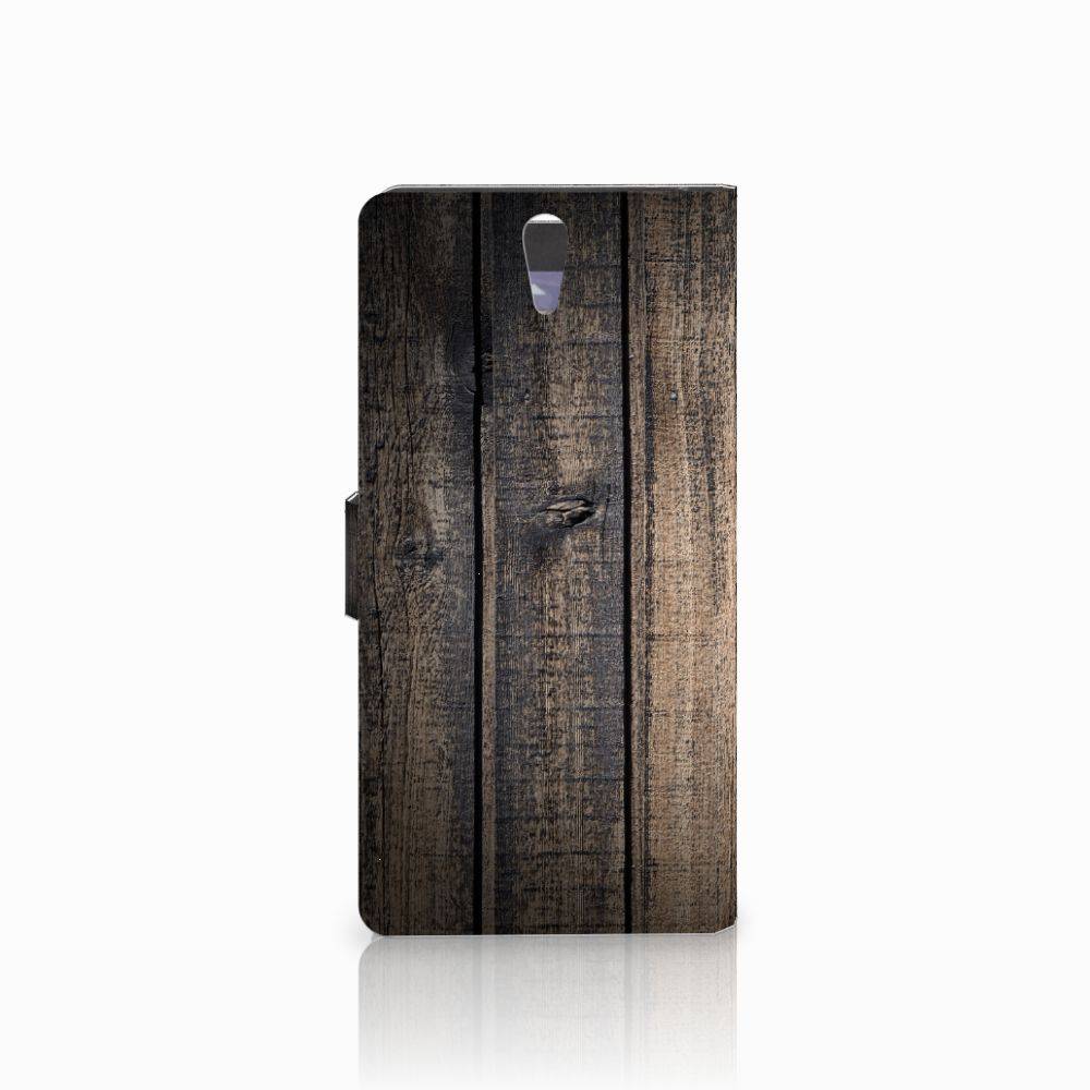 Sony Xperia C5 Ultra Book Style Case Steigerhout