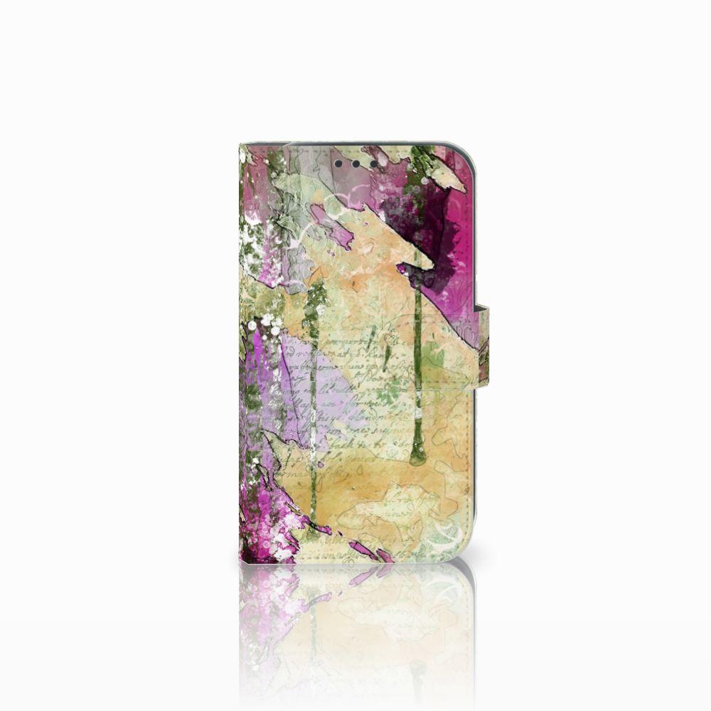 Samsung Galaxy Xcover 4 Uniek Boekhoesje Letter Painting