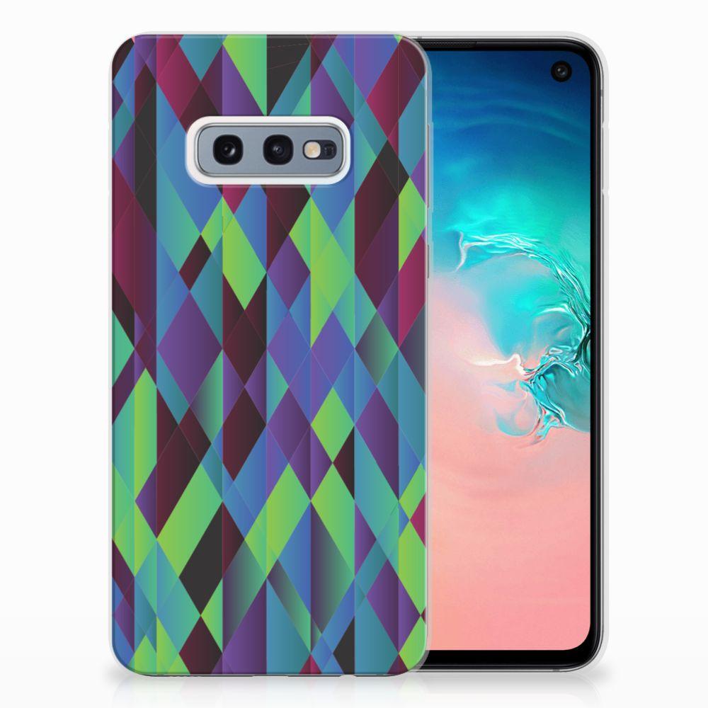 Samsung Galaxy S10e TPU Hoesje Abstract Green Blue