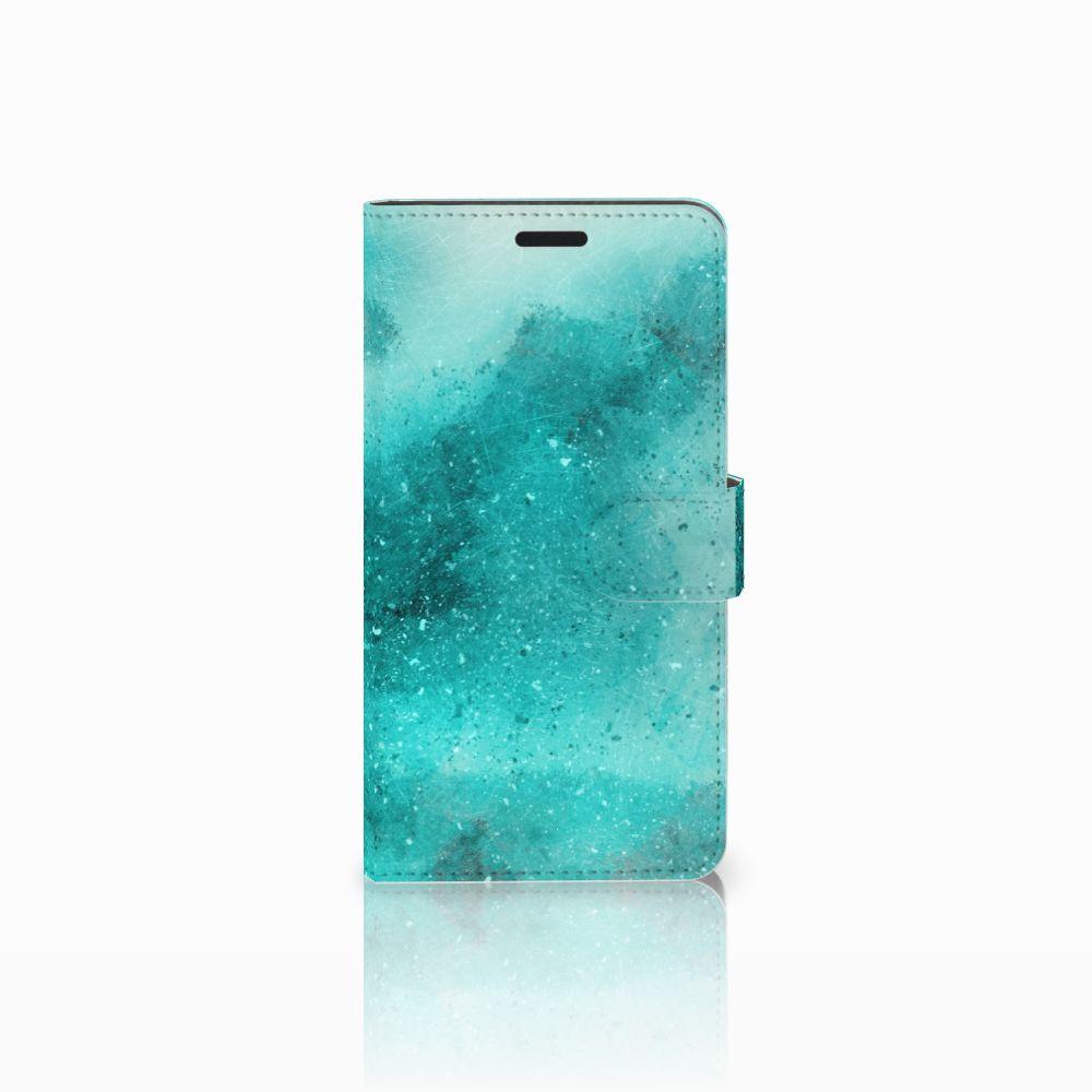 Sony Xperia T3 Uniek Boekhoesje Painting Blue