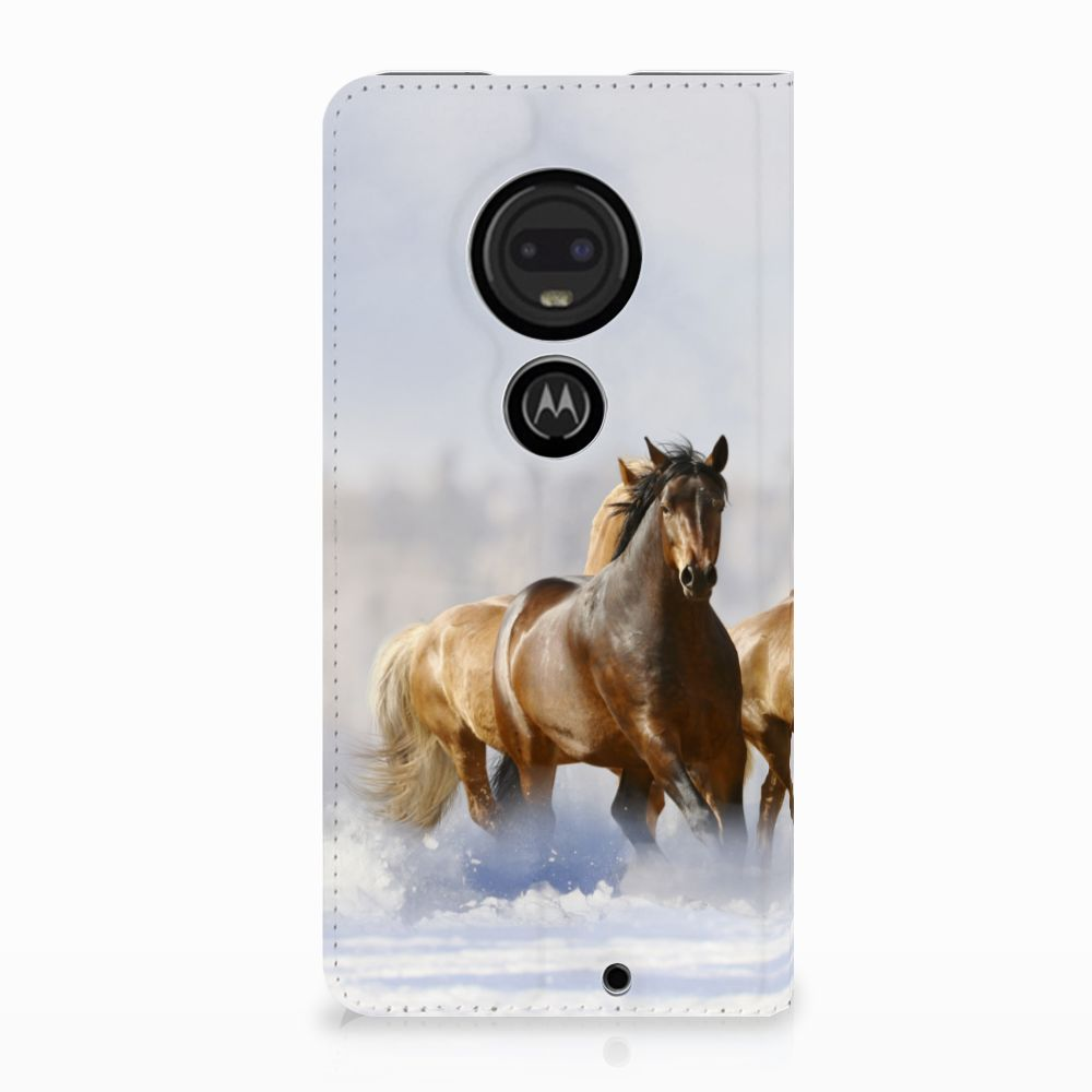 Motorola Moto G7 | G7 Plus Uniek Standcase Hoesje Paarden