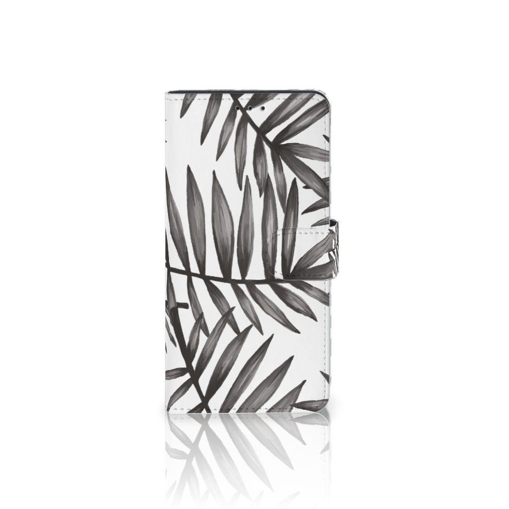 Samsung Galaxy A7 (2018) Uniek Boekhoesje Leaves Grey