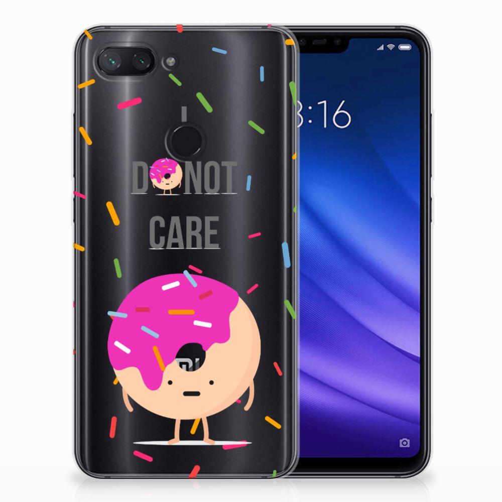 Xiaomi Mi 8 Lite Siliconen Case Donut Roze