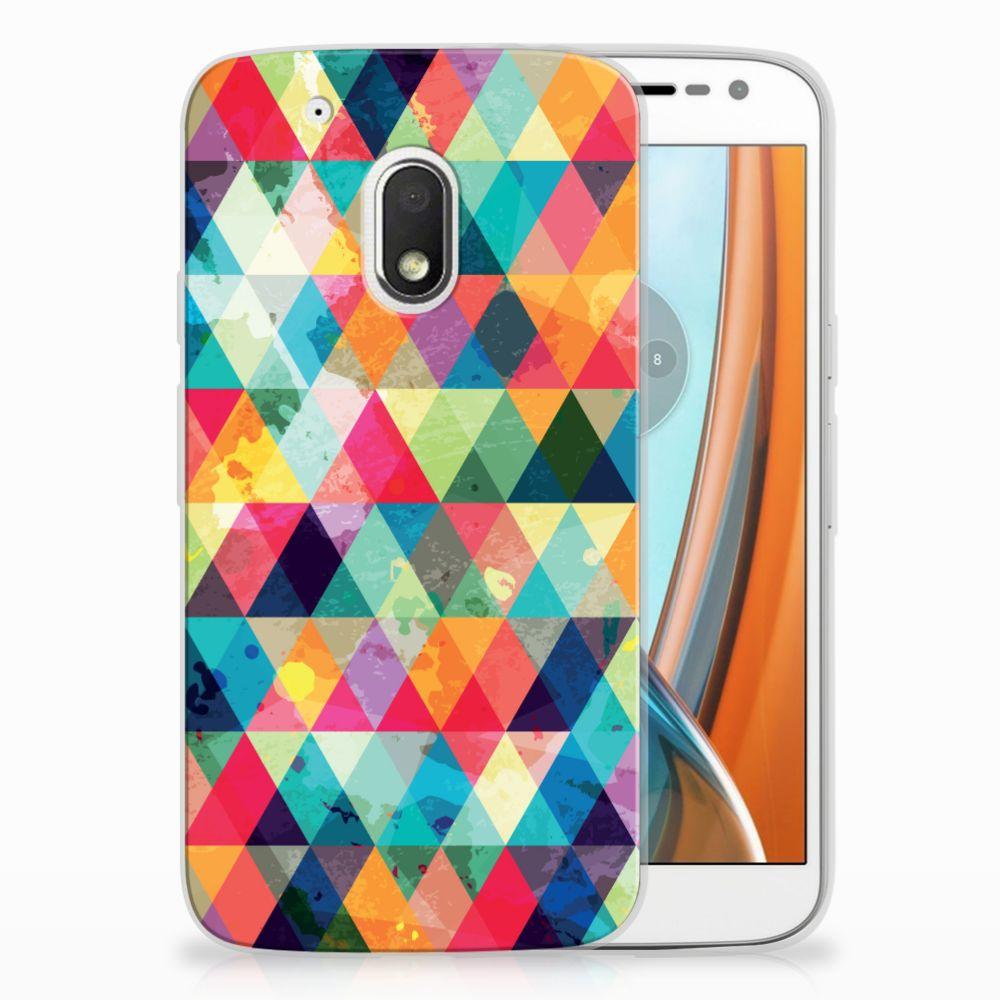 Motorola Moto G4 Play Uniek TPU Hoesje Geruit