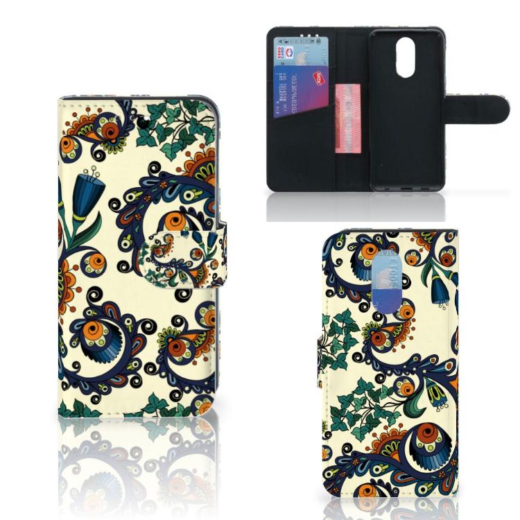 Wallet Case LG Q7 Barok Flower