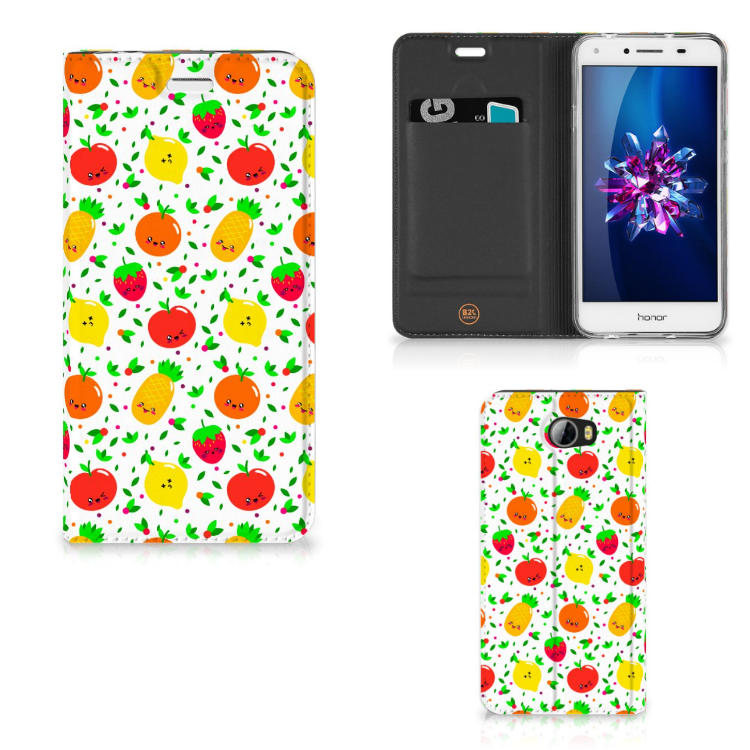 Huawei Y5 2   Y6 Compact Flip Style Cover Fruits