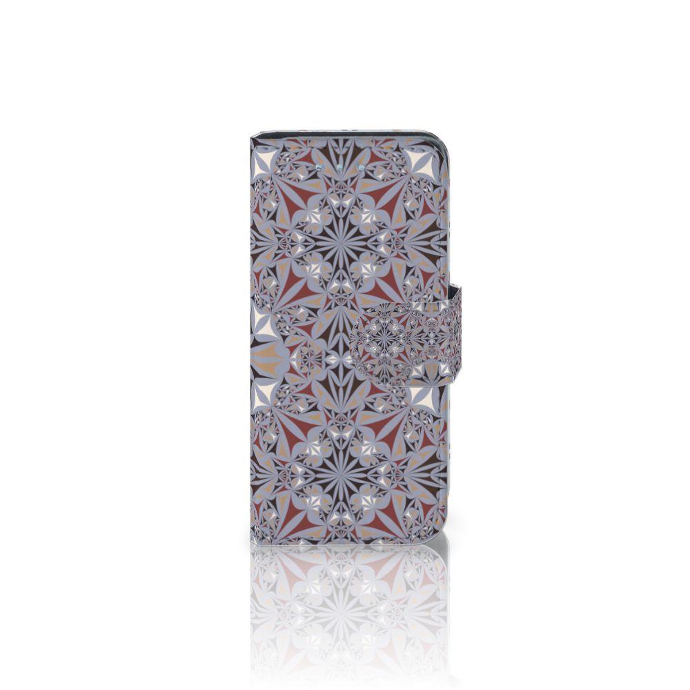 Samsung Galaxy S4 Mini i9190 Boekhoesje Design Flower Tiles