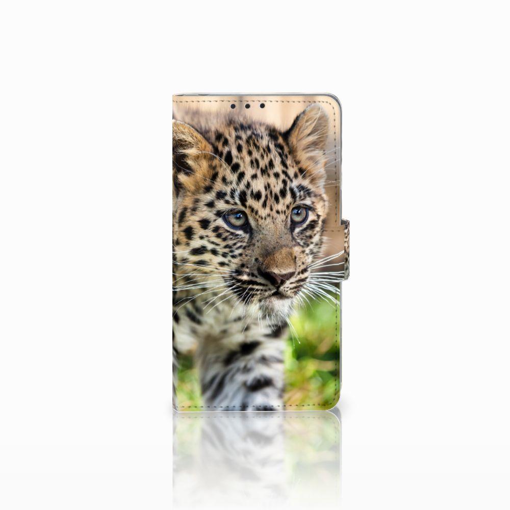 Sony Xperia Z1 Uniek Boekhoesje Baby Luipaard