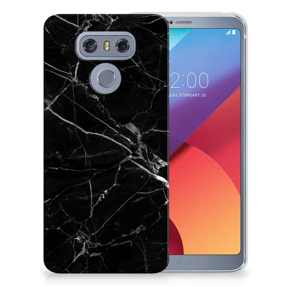 LG G6 TPU Hoesje Marmer Zwart