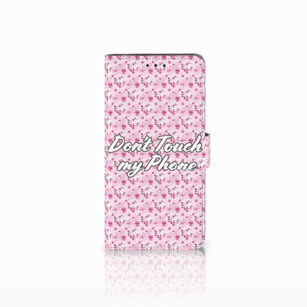Samsung Galaxy J6 Plus (2018) Portemonnee hoesje Flowers Pink DTMP