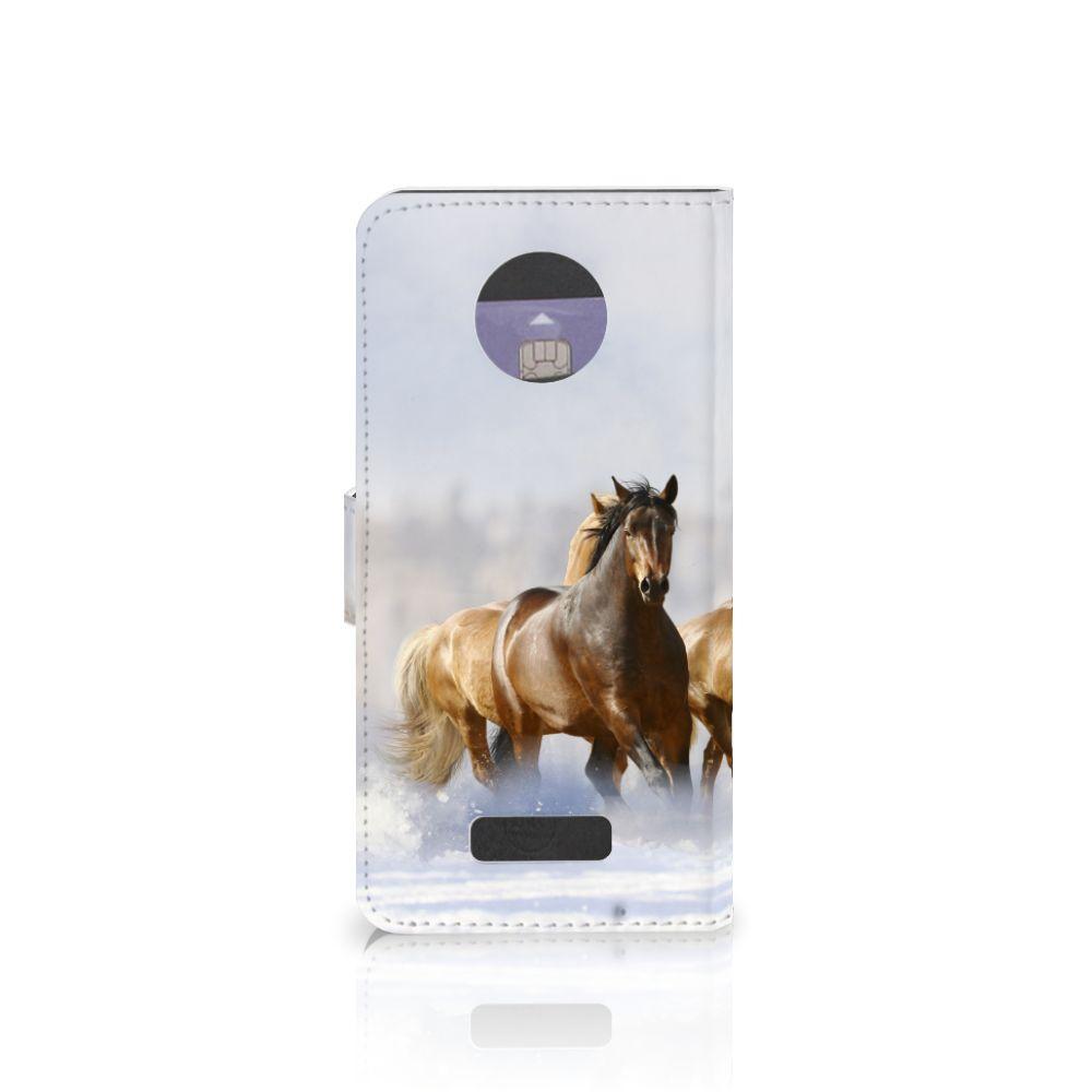 Motorola Moto Z Telefoonhoesje met Pasjes Paarden