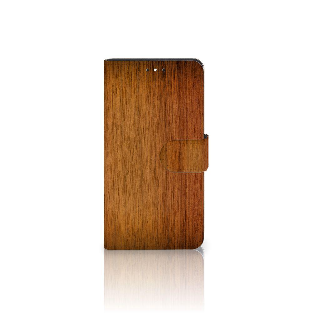 Motorola Moto G5S Plus Uniek Boekhoesje Donker Hout