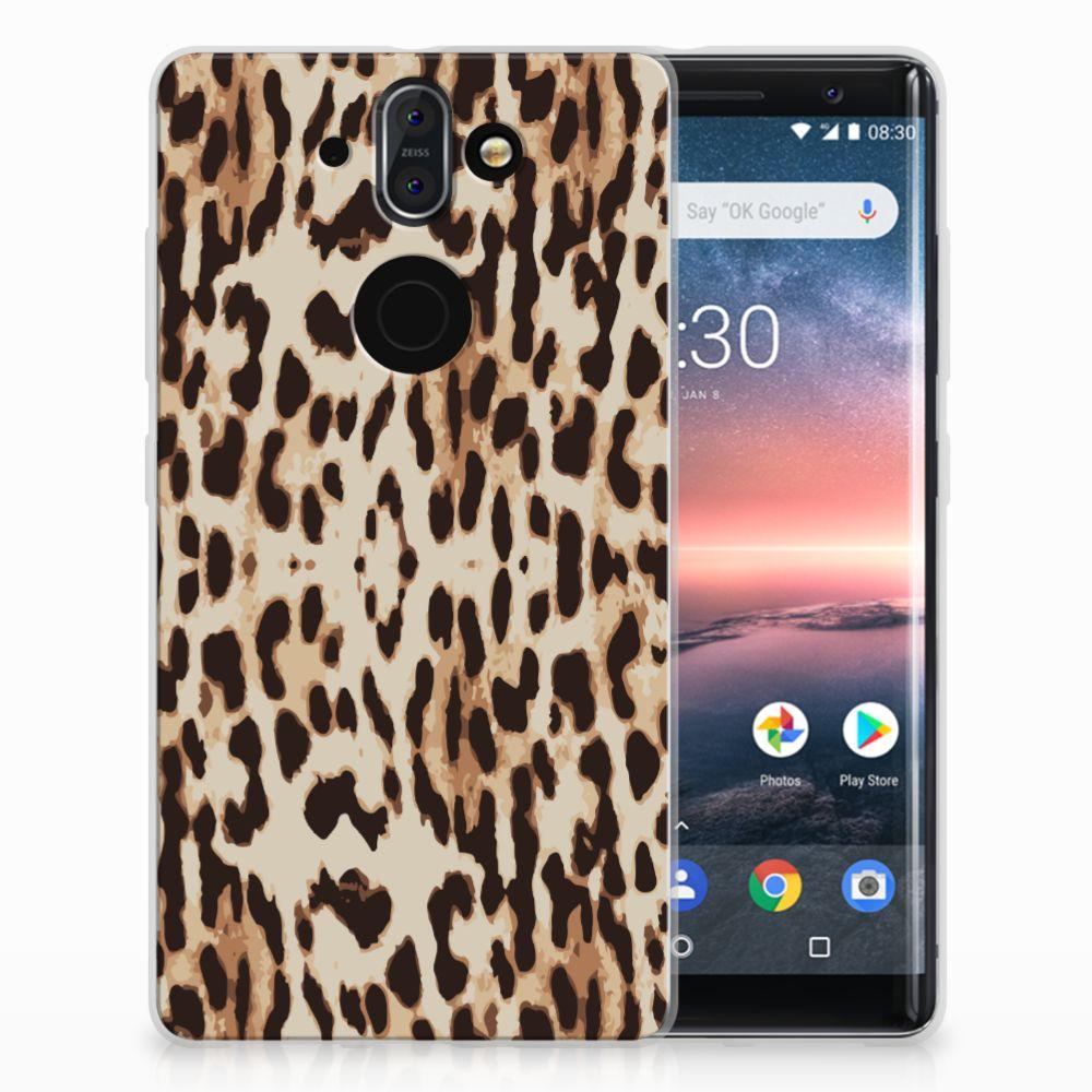 Nokia 9   8 Sirocco Uniek TPU Hoesje Leopard