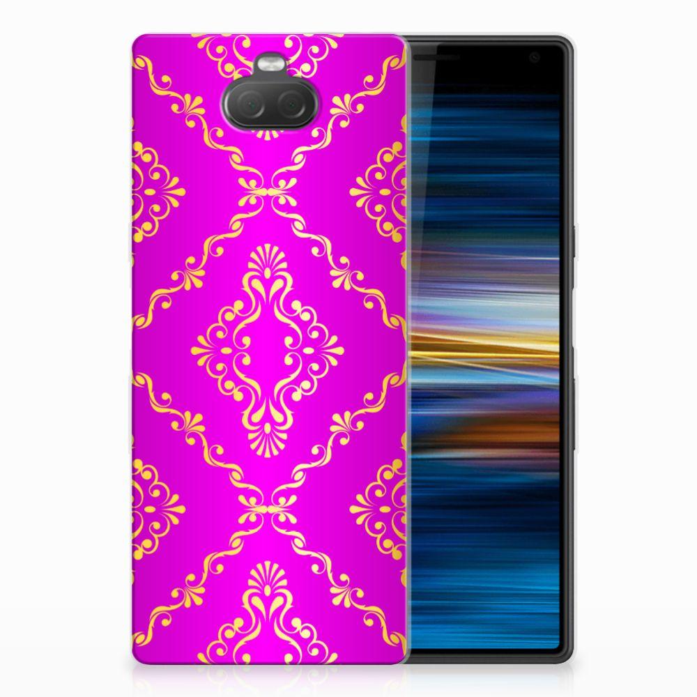 Sony Xperia 10 Uniek TPU Hoesje Barok Roze