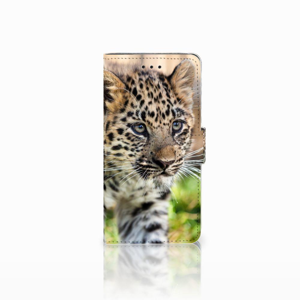 Huawei Y5 2018 Uniek Boekhoesje Baby Luipaard