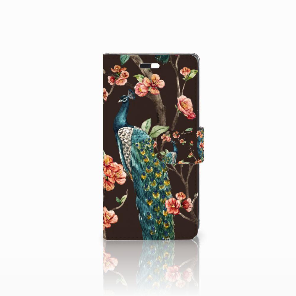 Huawei Y635 Boekhoesje Design Pauw met Bloemen