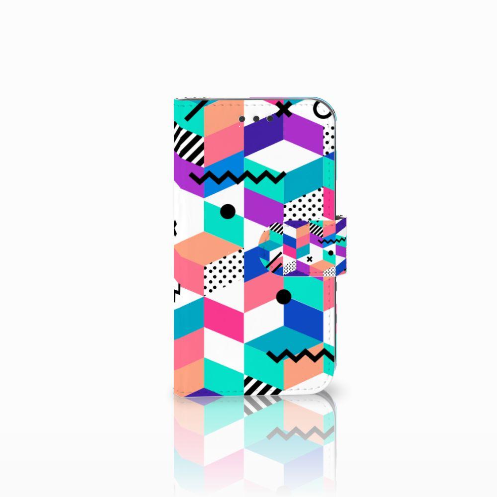 Samsung Galaxy S3 i9300 Bookcase Blokken Kleurrijk
