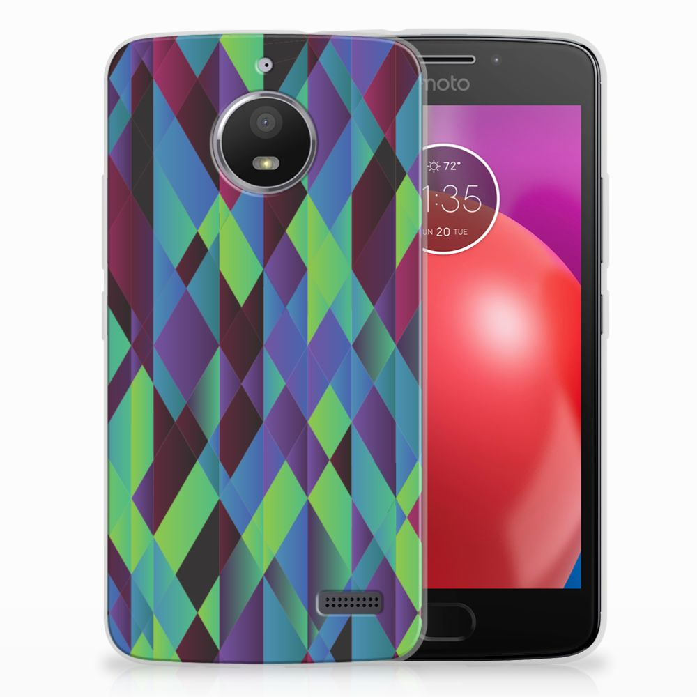 Motorola Moto E4 TPU Hoesje Abstract Green Blue
