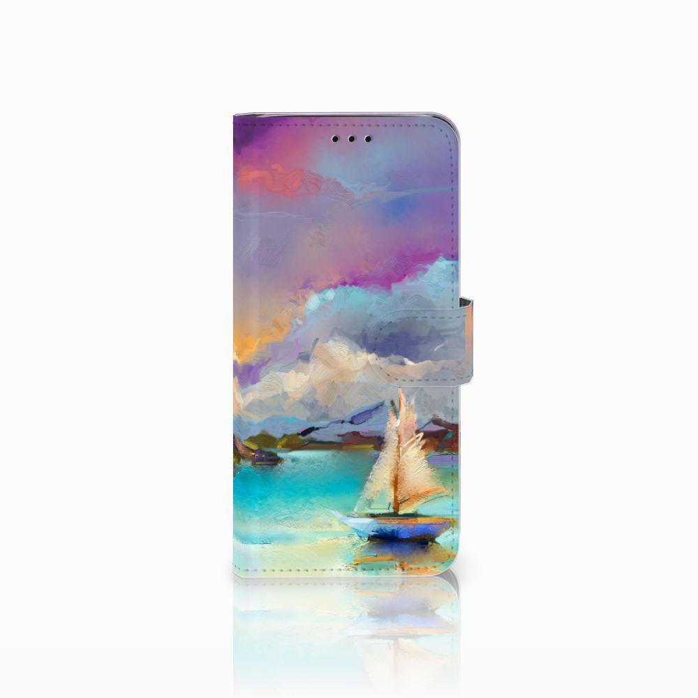 Samsung Galaxy J6 2018 Uniek Boekhoesje Boat