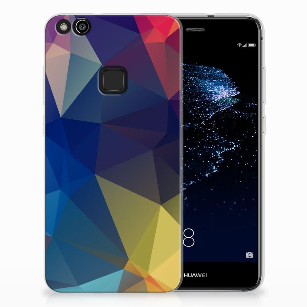 Huawei P10 Lite TPU Hoesje Polygon Dark