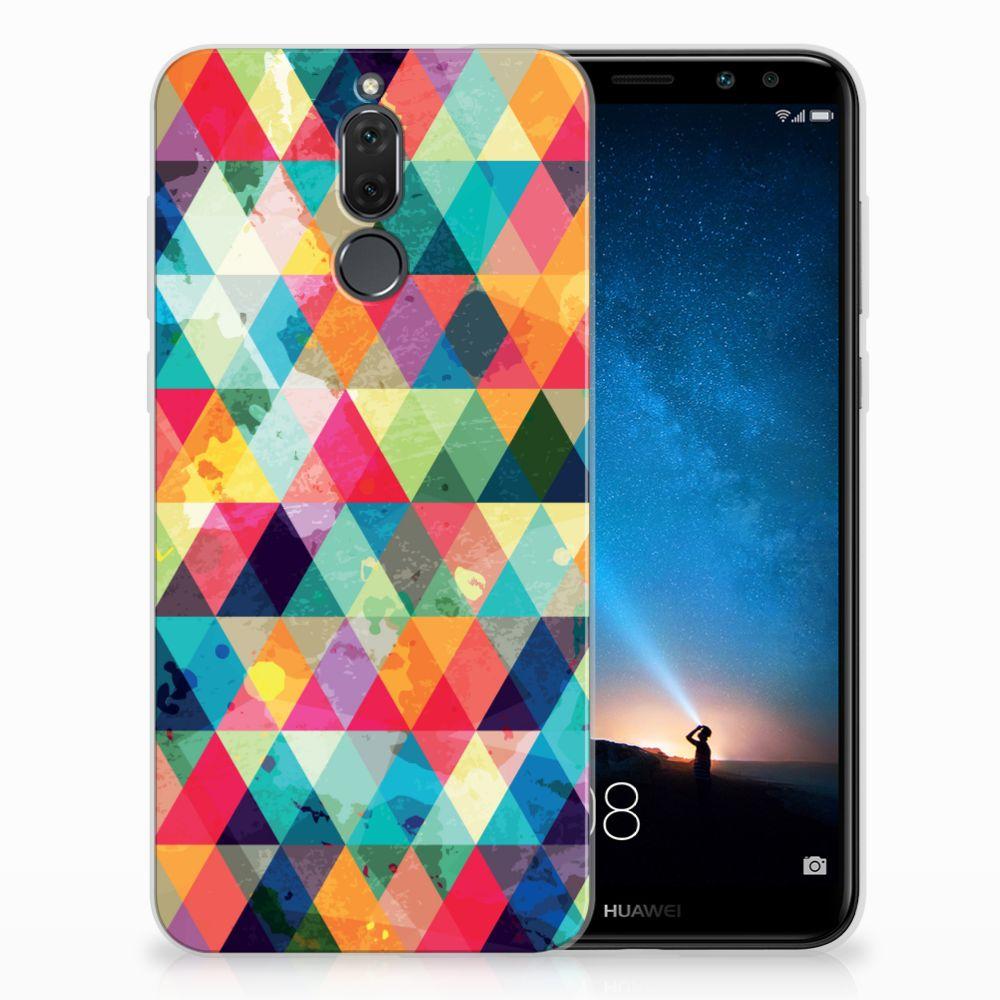Huawei Mate 10 Lite Uniek TPU Hoesje Geruit