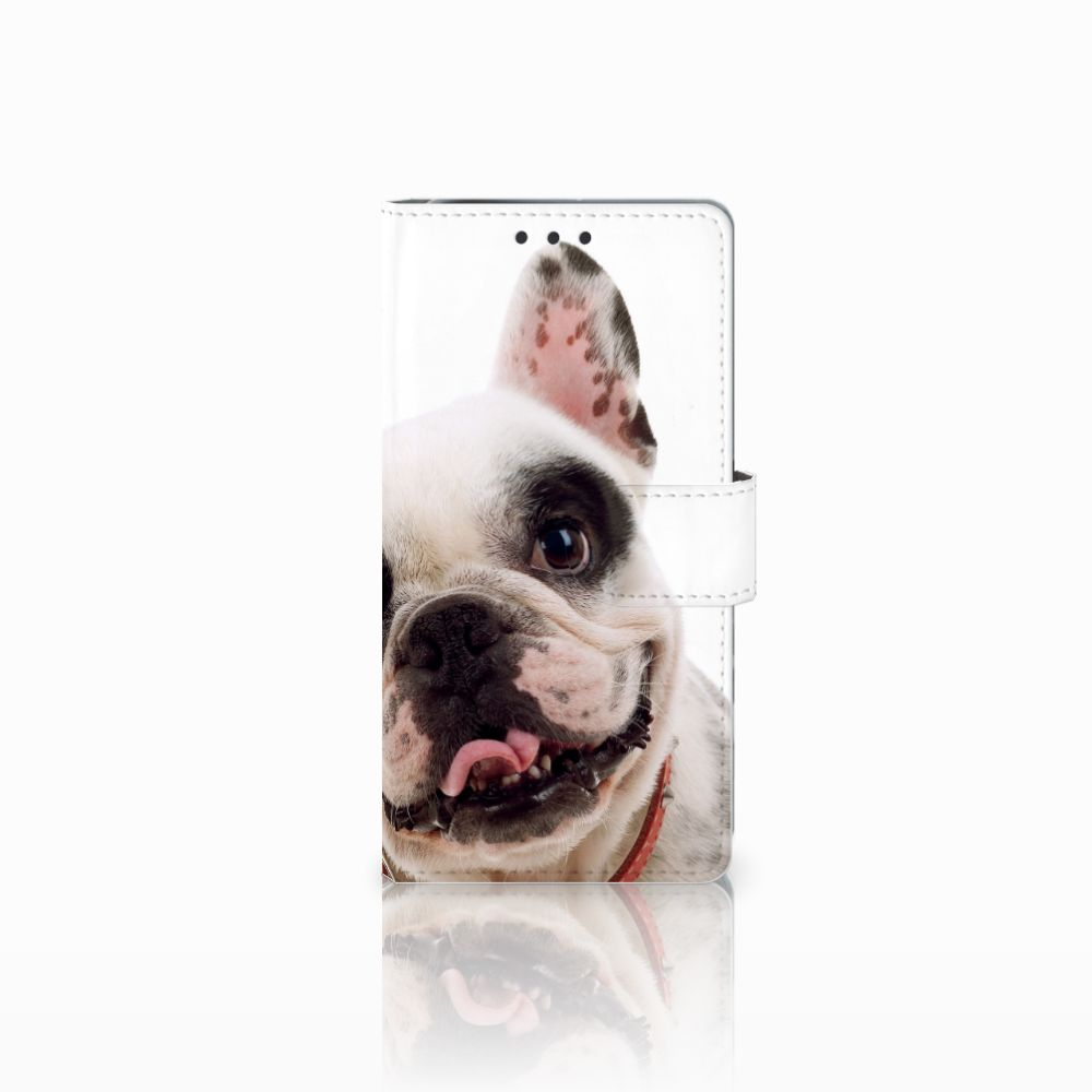 Sony Xperia X Performance Telefoonhoesje met Pasjes Franse Bulldog