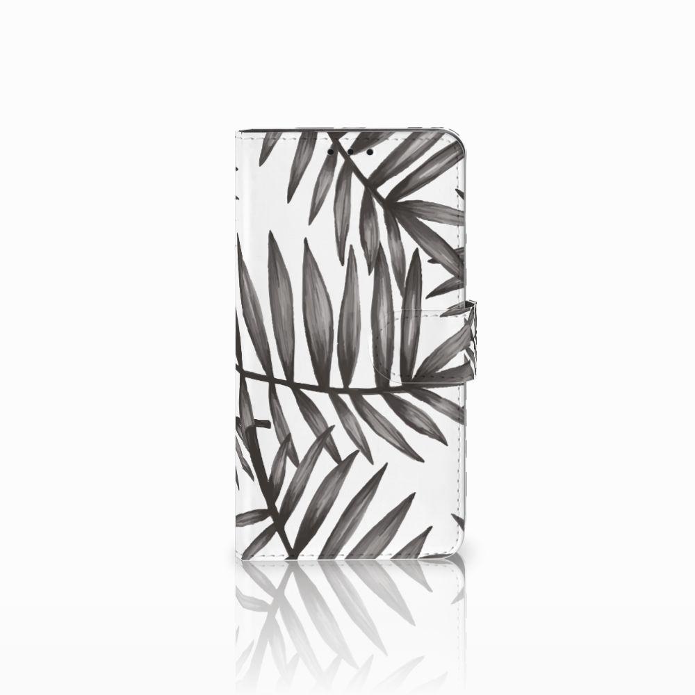 Huawei Honor 6X Uniek Boekhoesje Leaves Grey