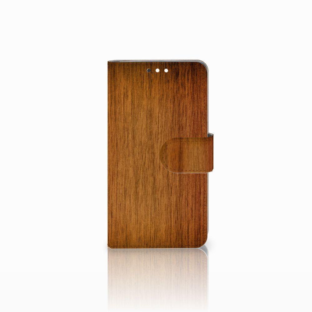 Nokia 8 Sirocco | Nokia 9 Uniek Boekhoesje Donker Hout