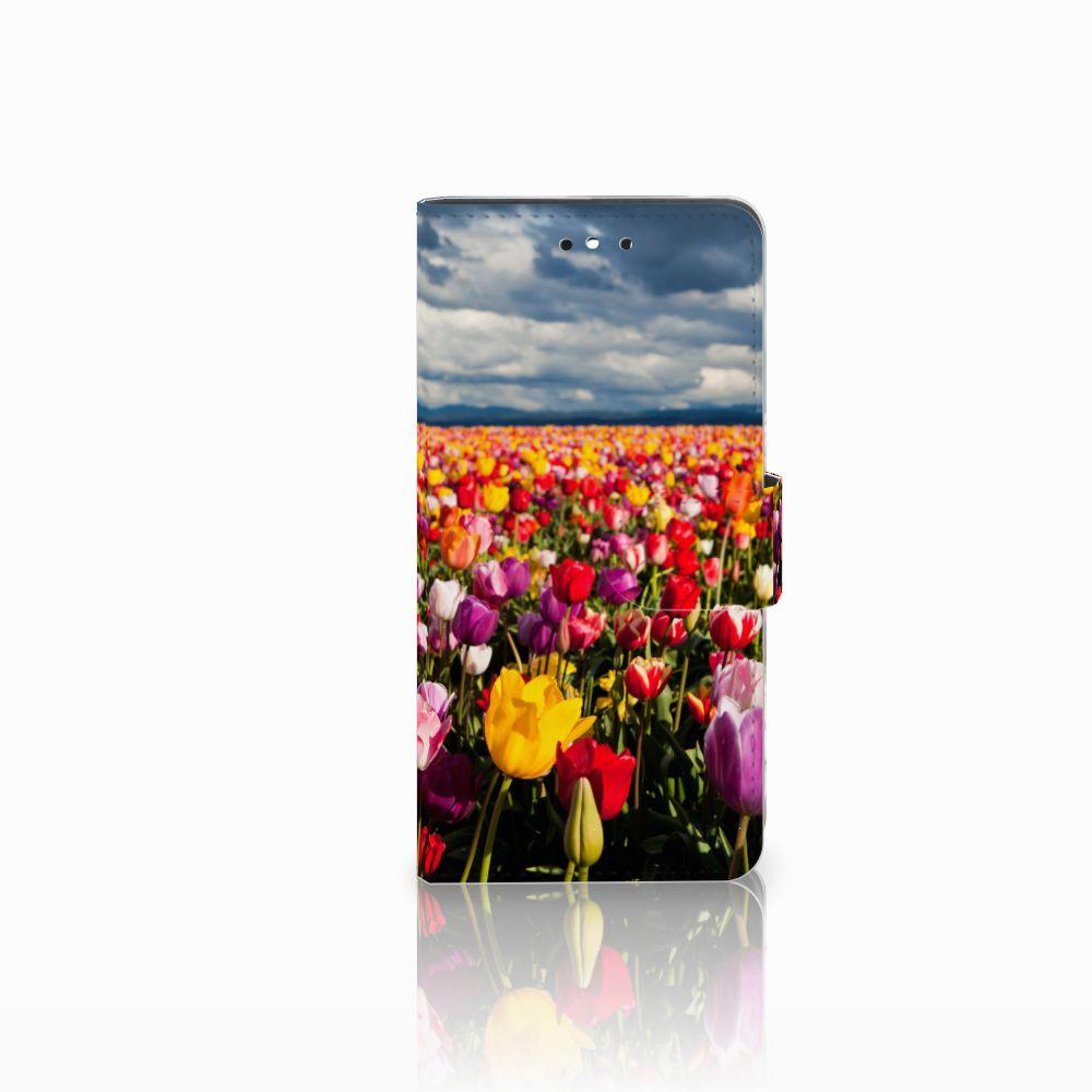 Huawei P8 Lite Smart (GR3) Uniek Boekhoesje Tulpen