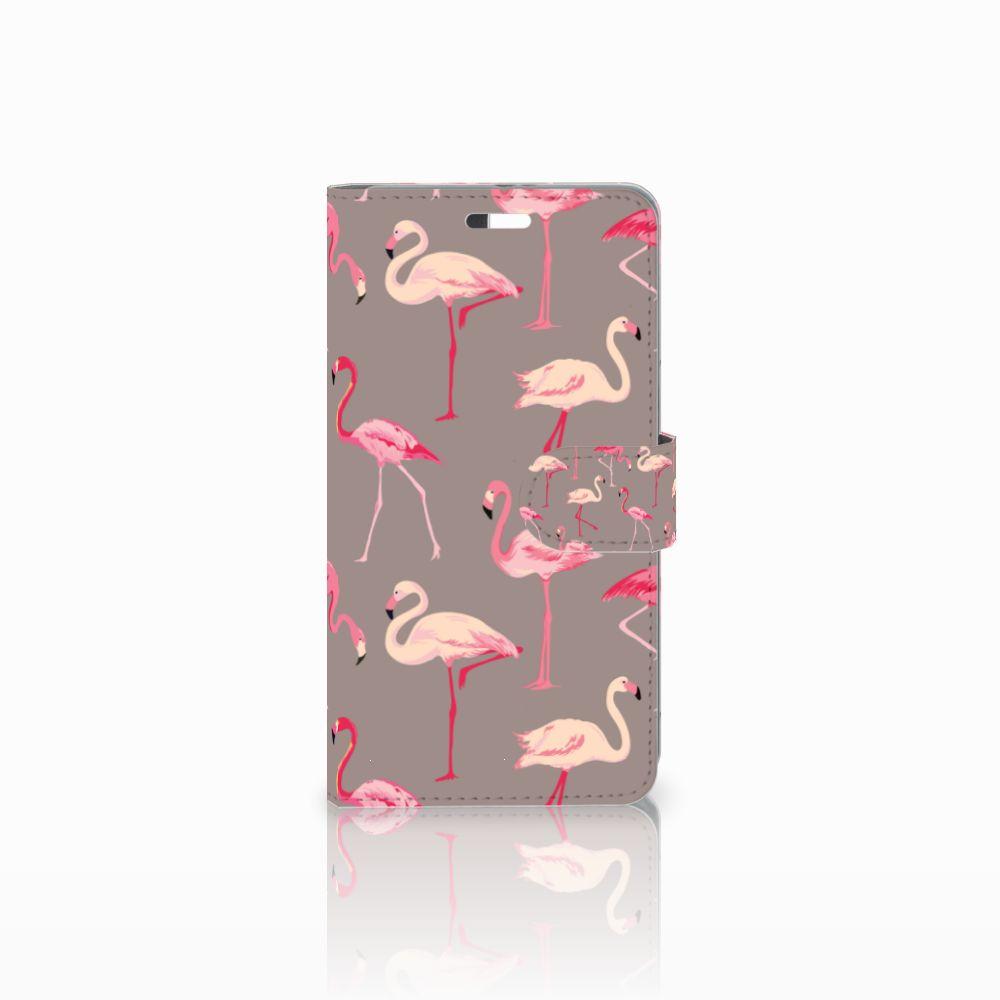 Huawei P9 Plus Uniek Boekhoesje Flamingo