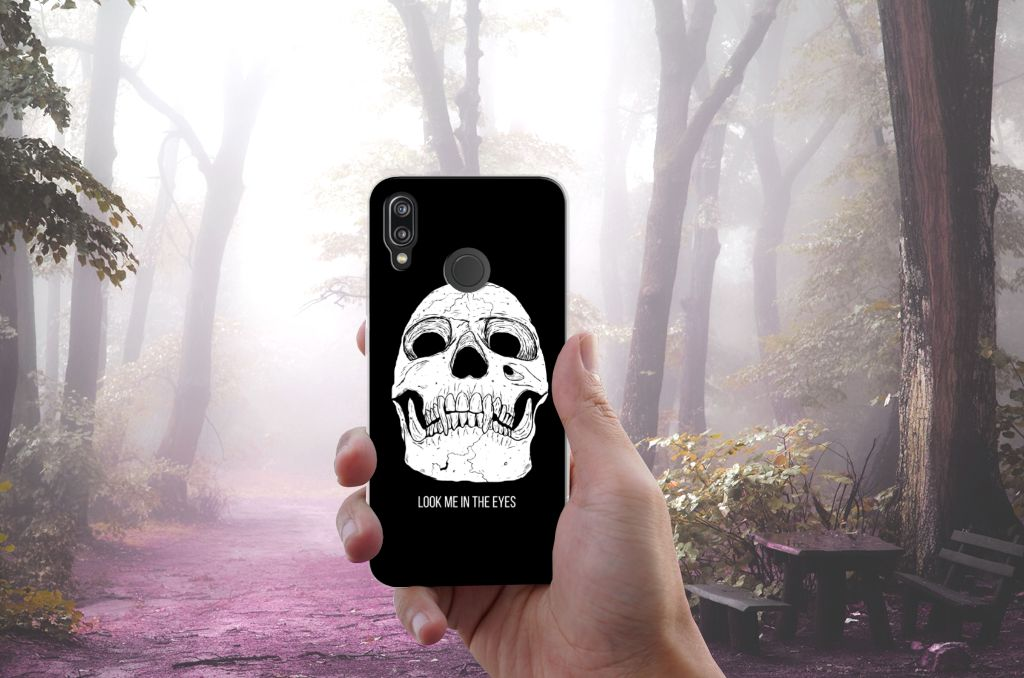 Silicone Back Case Huawei P20 Lite Skull Eyes