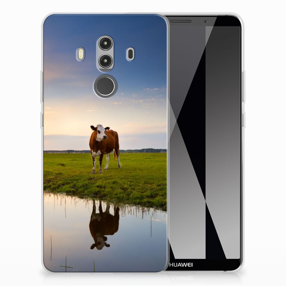 Huawei Mate 10 Pro TPU Hoesje Design Koe