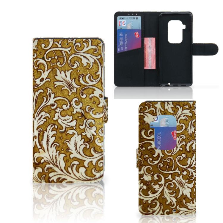 Wallet Case Motorola One Zoom Barok Goud
