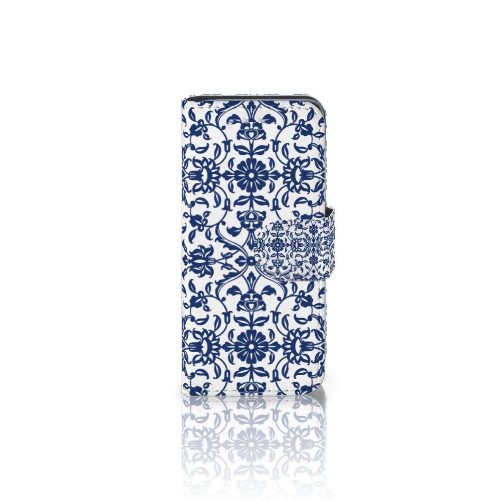 Samsung Galaxy S4 Mini i9190 Boekhoesje Flower Blue