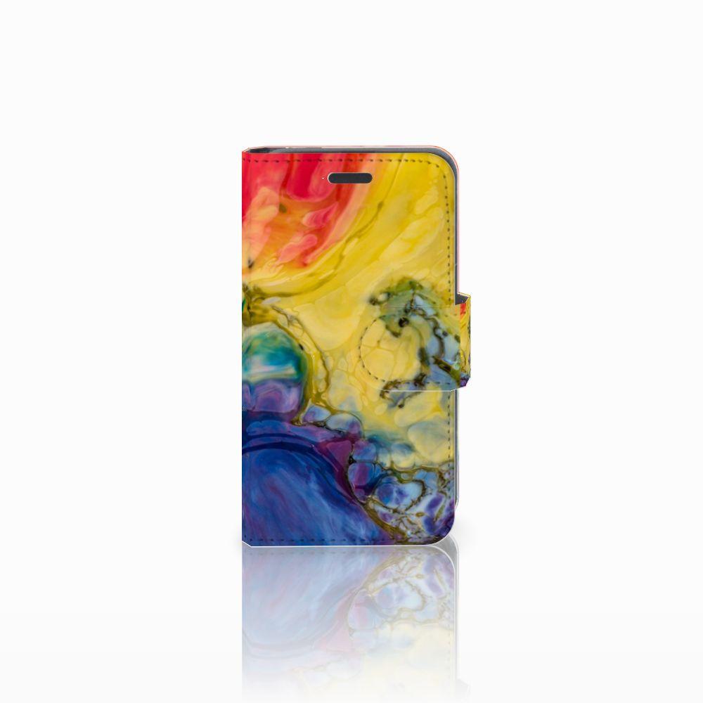 Nokia Lumia 520 Uniek Boekhoesje Watercolor Dark