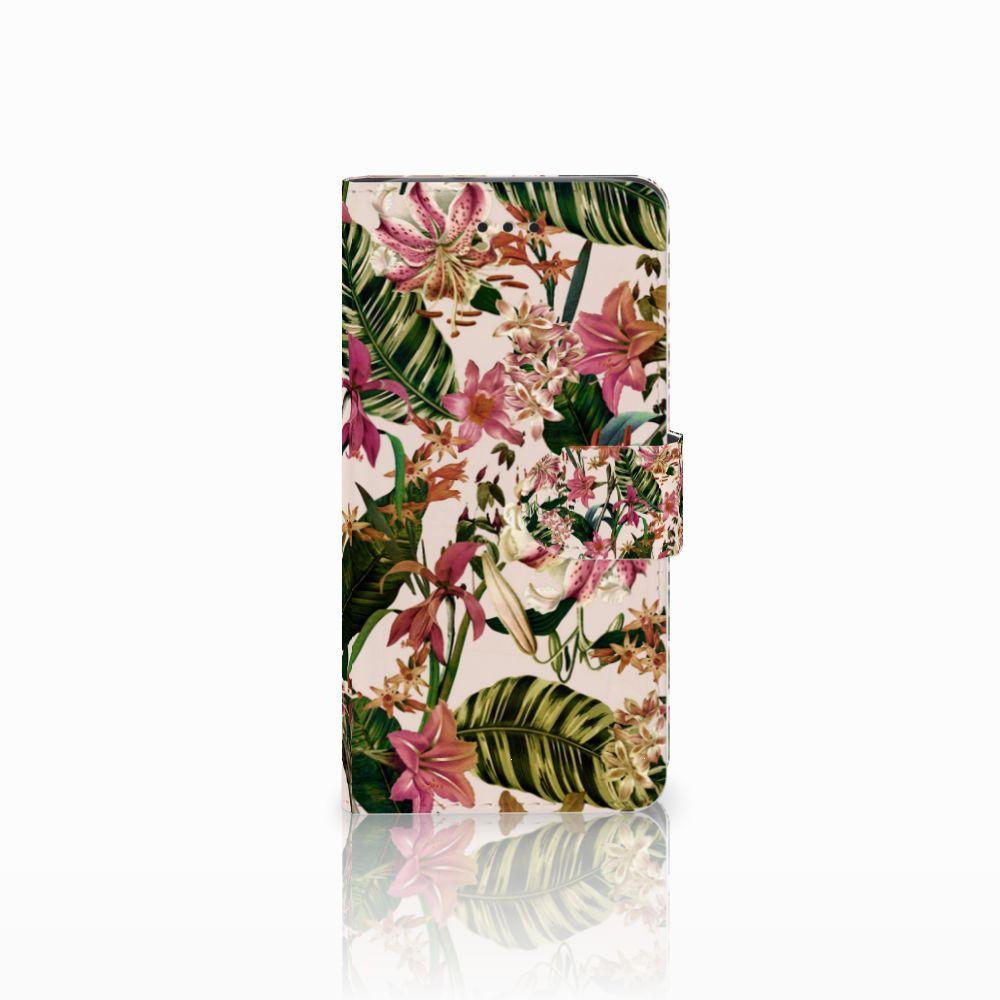 Huawei Y3 2017 Uniek Boekhoesje Flowers
