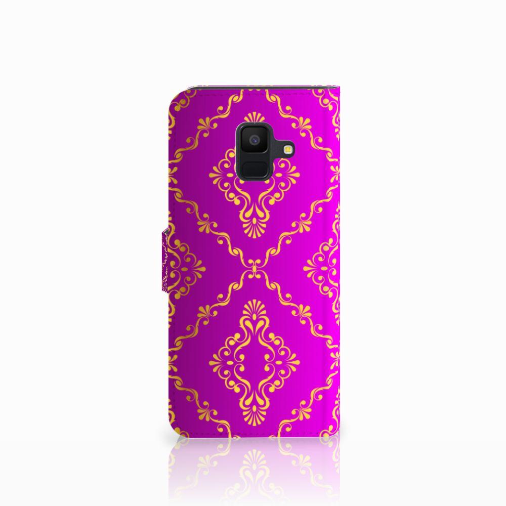 Wallet Case Samsung Galaxy A6 2018 Barok Roze