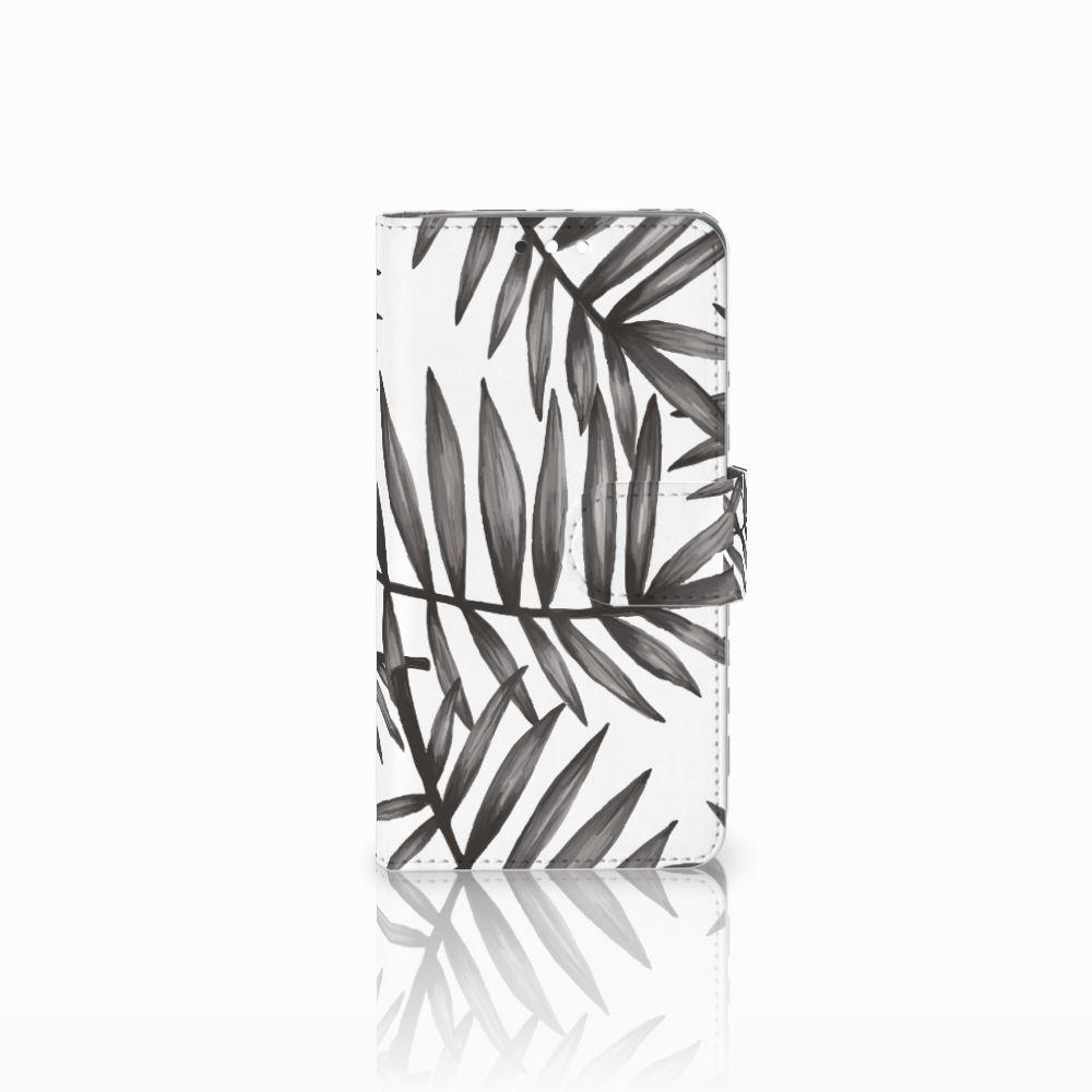 Nokia 8 Sirocco | Nokia 9 Uniek Boekhoesje Leaves Grey
