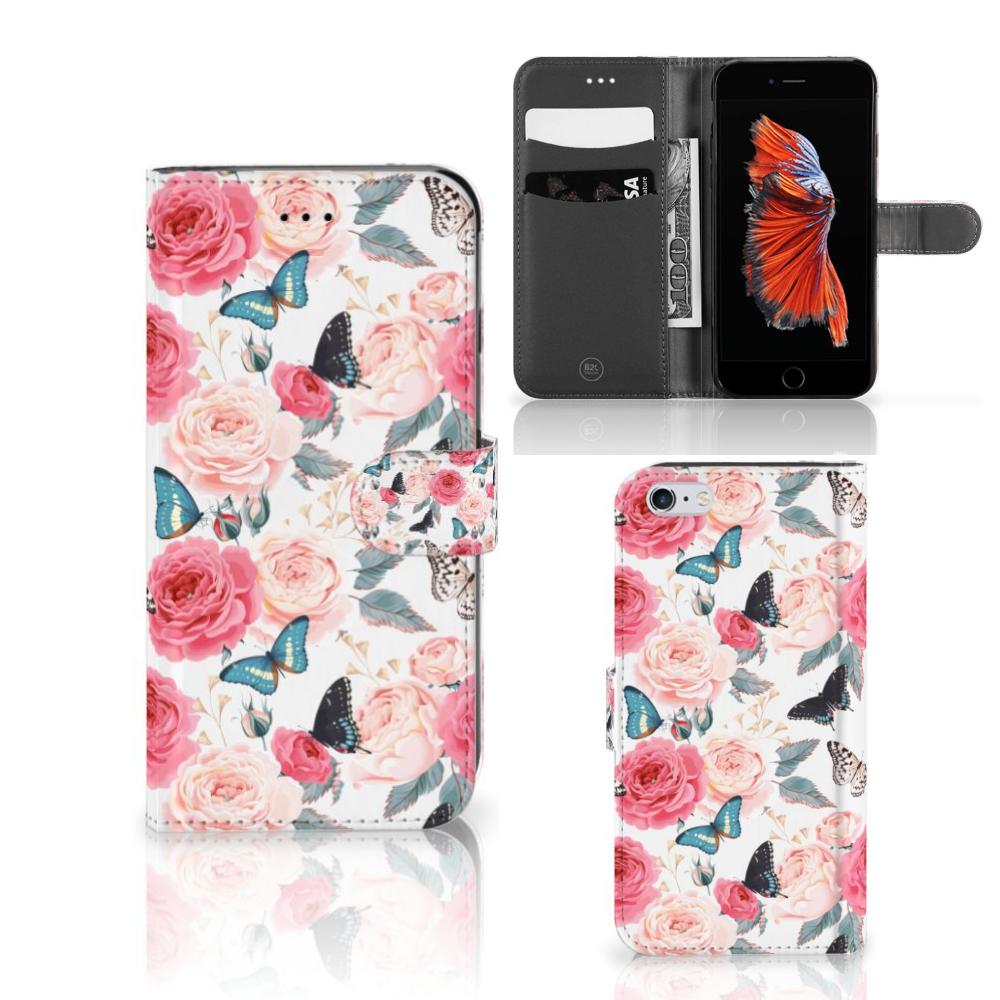 Apple iPhone 6 Plus | 6s Plus Hoesje Butterfly Roses